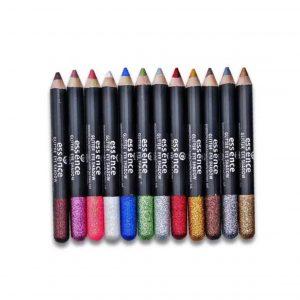 ست ۱۲ عددی مداد گلیتر اسنس (essence 12 pcs glitter eyeshadow pencil)